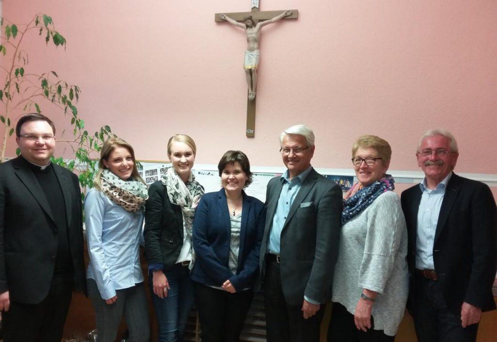 Trägerverein (Stand: Mai 2017) mit Pfarrer Schächner und 2. Bürgermeister von Tüssling, Helmut Wittich